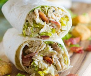 food, lunch, and wrap image