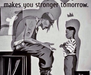 hurt, strong, and tupac image