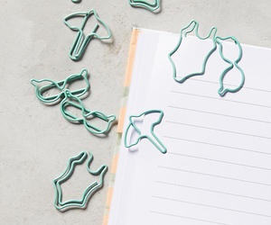stationery, stydying, and beach bound paperclip set image