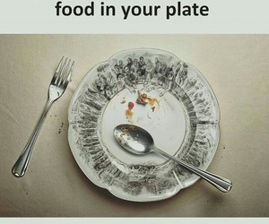 food, plate, and reflect image