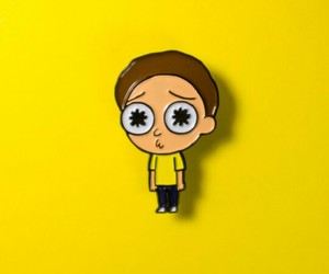 pins, yellow, and morty image