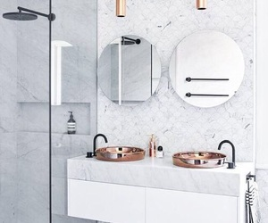 artsy, room decor, and white marble image
