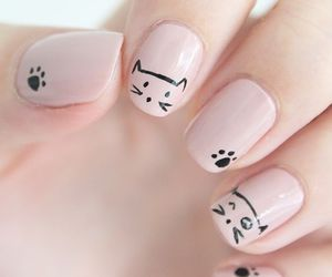 art, cat, and nail image
