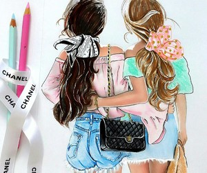 artista, ilustracao, and chanel image