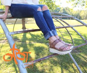 otbt shoes, women shoe, and platform sandal image