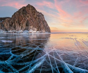 ice and mountains image