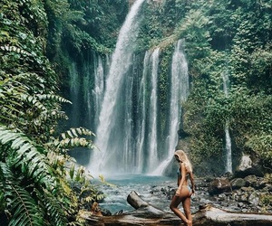 adventure, travel, and waterfall image