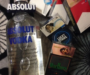 absolut, alcohol, and lucky strike image