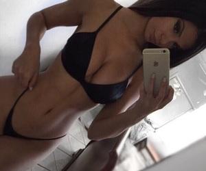 bikini, black hair, and inspiration image