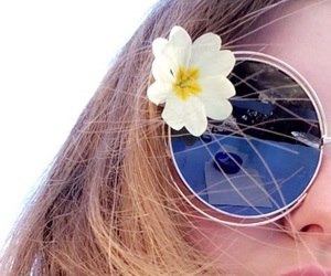 flower, spring, and sunglasses image