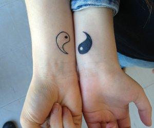 tattoo and ying yang image