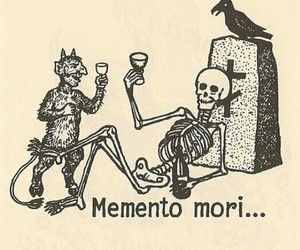 memento mori, skeleton, and death image