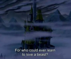 beauty and the beast, disney, and movie image