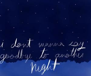 blue, Lyrics, and night image
