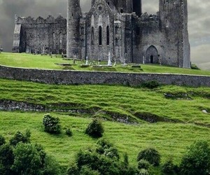 castle, ireland, and sheep image