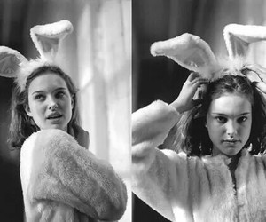 90s, b&w, and bunny image