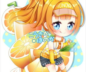 anime girl, honoka kousaka, and beautiful image