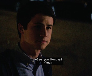 regret, 13 reasons why, and dylan minnette image