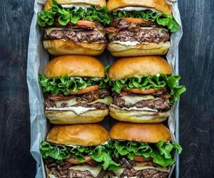 food, hamburger, and burgers image