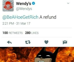 funny, savage, and wendy's image
