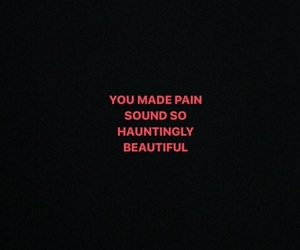 beautiful, sound, and pain image