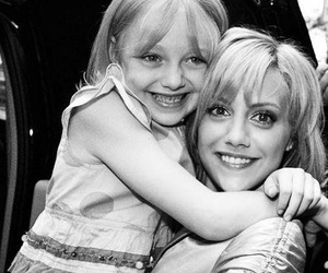 dakota fanning, brittany murphy, and black and white image