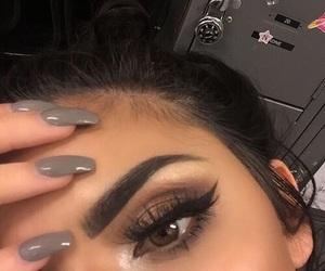 makeup, nails, and eyebrows image