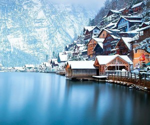 austria, mountain, and hallstatt image