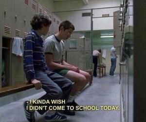 school, freaks and geeks, and sad image