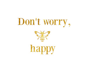 quotes, bee, and happy image