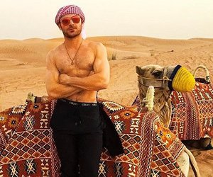 boy, desert, and Hot image