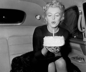 Marilyn Monroe, birthday, and cake image