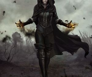 dark, fantasy, and witch image