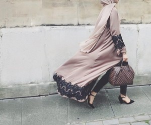 fashion, hijab, and abaya image