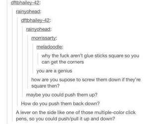 accurate, funny, and glue image