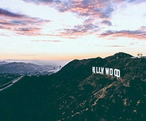 hollywood, sign, and pretty image