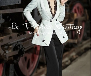 blazer, chic, and shoulder pads image