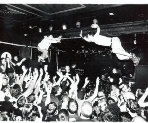 concert, black and white, and mosh image