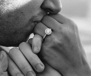 adorable, black and white, and ring image