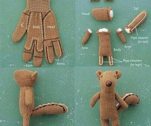 diy, squirrel, and gloves image