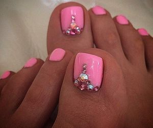 glitter, summer, and nails image