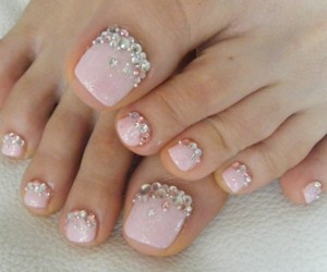 nails, pink, and feet image