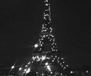 paris, night, and beauty image