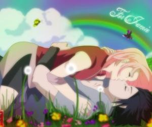 naruto, sasuke uchiha, and anime couples image