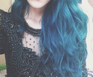 aqua, aqua hair, and ombre image