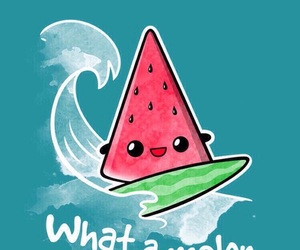 melon, surf, and watermelon image
