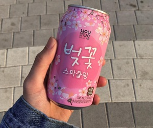 drink, pink, and korea image