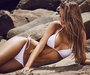 beach, beuty, and blonde image