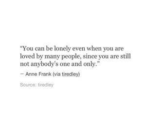 anne frank, one, and lonely image