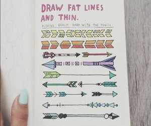wreck this journal, arrow, and tumblr image